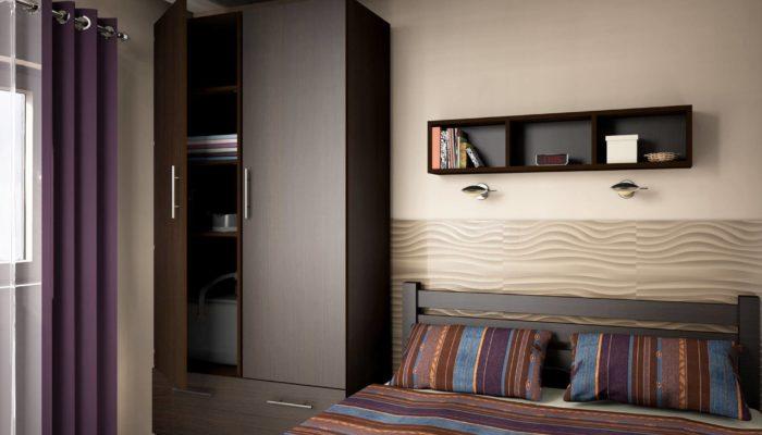 wizualizacja sypialnia wykonanej w paletteCAD Gliwice