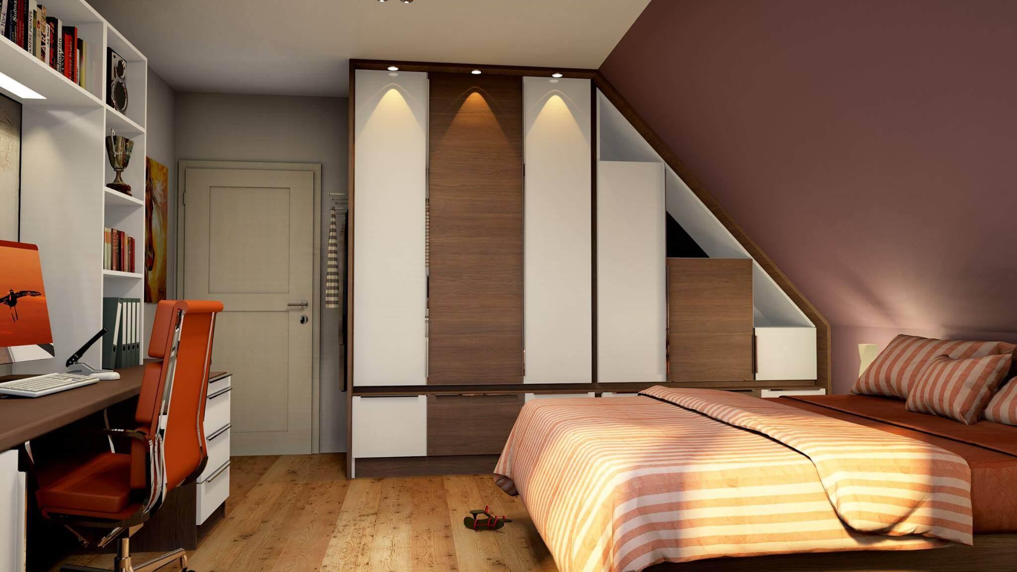 sypialnia wykonana w paletteCAD program do projektowania Kraków program do projektowania podłóg