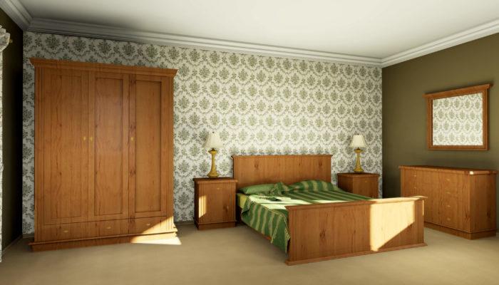 Sypialnia - elementy frezowane