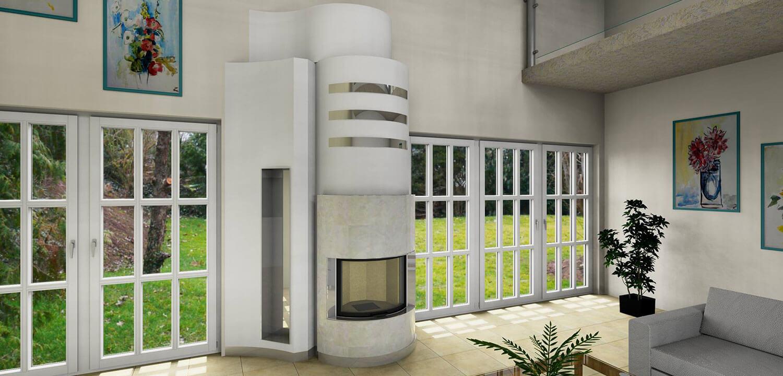 Program do projektowania kominków PaletteCAD nowoczesny kominek