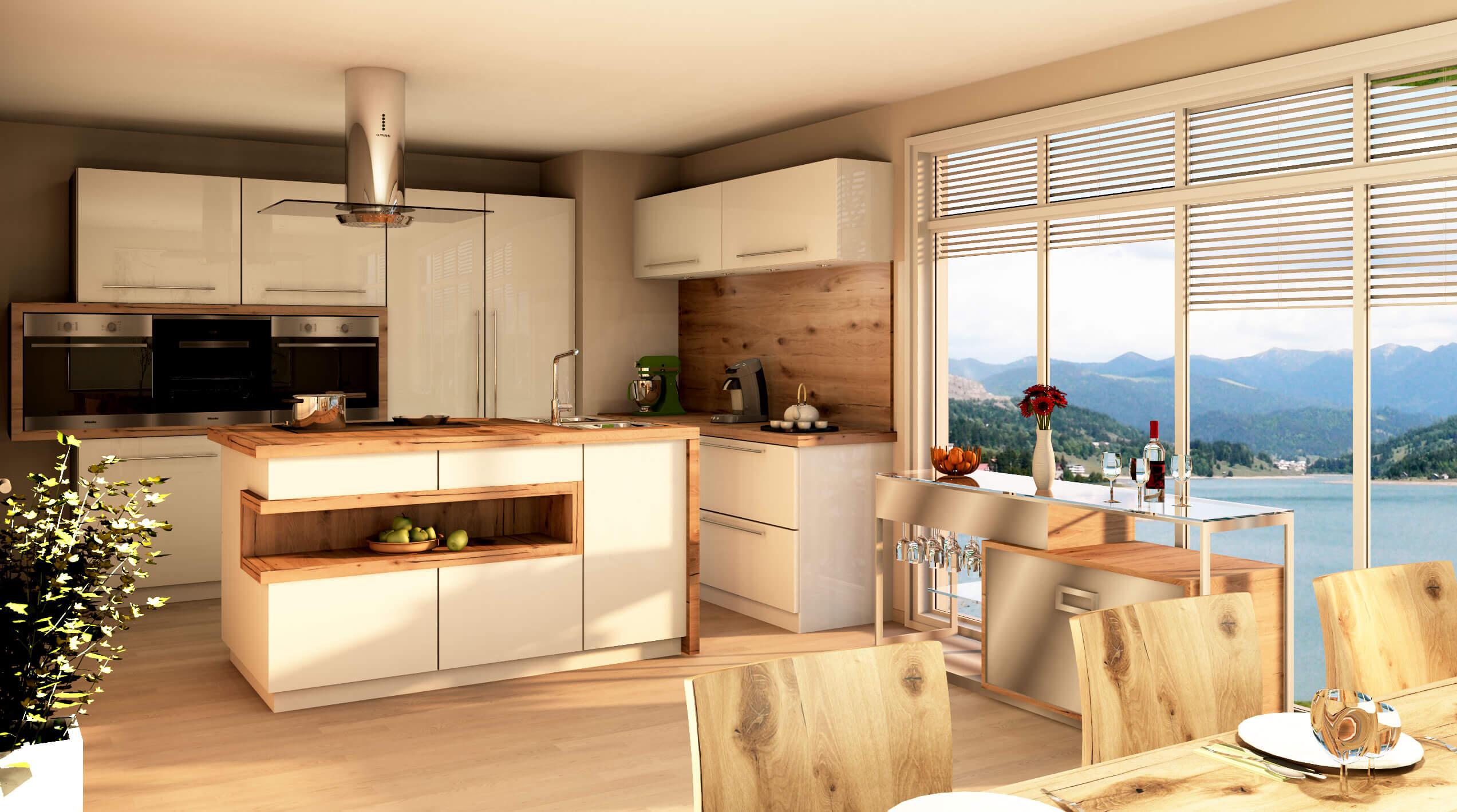 Kuchnia nowoczesna wykonana w paletteCAD program do projektowania kuchni