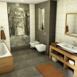 łazienka nowoczesna wykonana w programie PaletteCAD