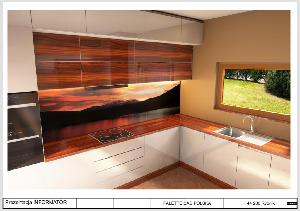 architektura wnętrza palette CAD kuchnia polska