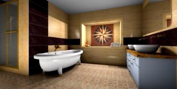 łazienka przygotowana w palette CAD program do projektowania wnętrz