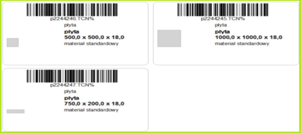 etykiety obiektów meblowych paletteCAD