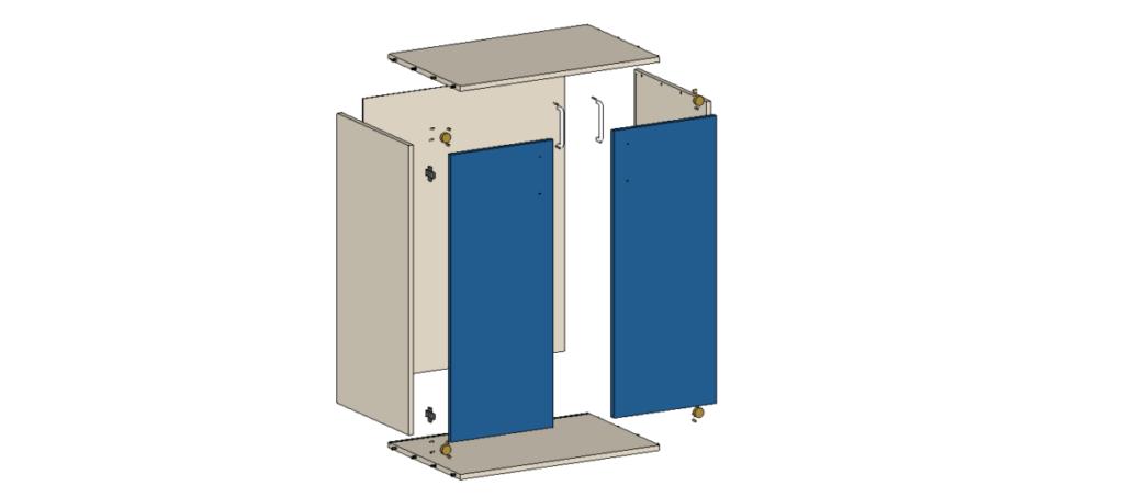 korpus szafy meblowej Palette CAD