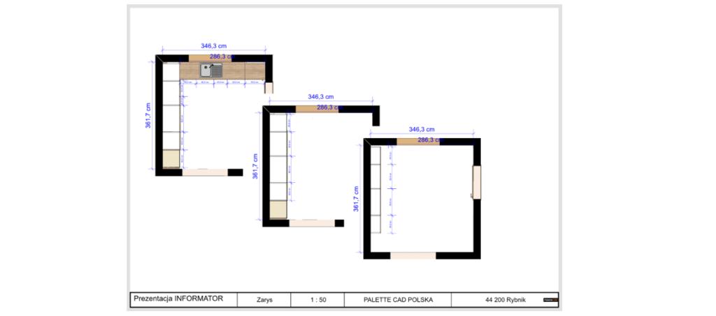 Specyfikacje programu obiektów paletteCAD do projektowania wnętrz