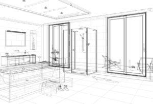 palette sketch i projekt w konturach