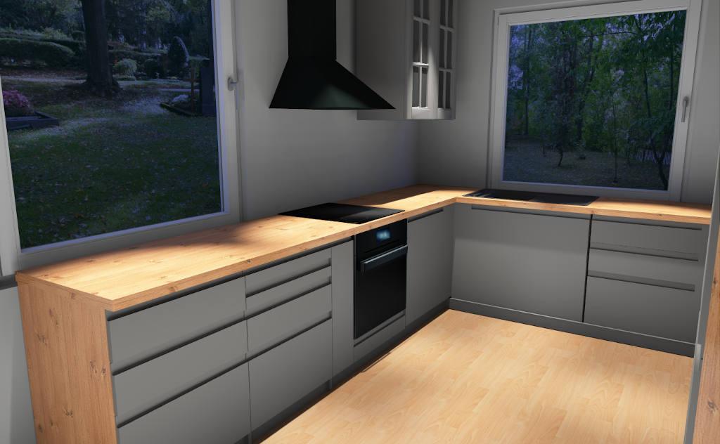 program do projektowania mebli kuchennych - realizacja w nocy