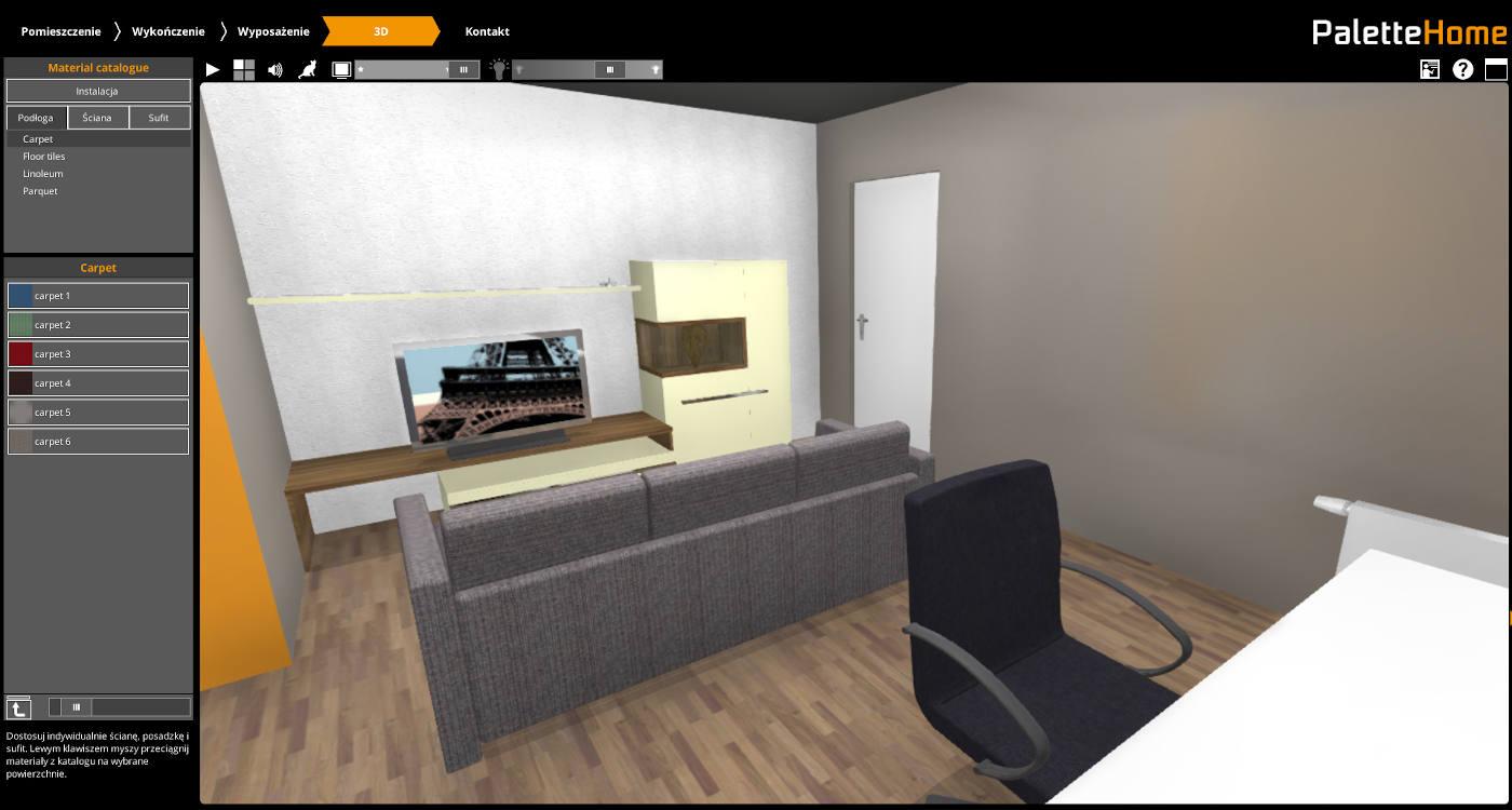 darmowy program do projektowania wnętrz palette Home